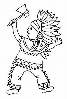 Ausmalbilder Indianer Kostenlos Indianer Ausmalbilder Zum Ausdrucken Kinder Zeichnen Und