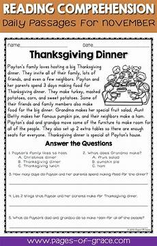 poetry comprehension worksheets with answers 25239 reading comprehension passages and questions for november reading comprehension passages