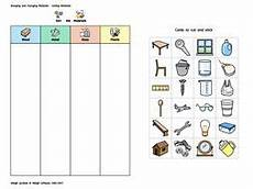 worksheets on sorting materials into groups class 6 7855 widgit materials sorting activity teaching resources