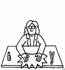 Malvorlagen Na Frau Na Tisch Ausmalbild Malvorlage Beruf