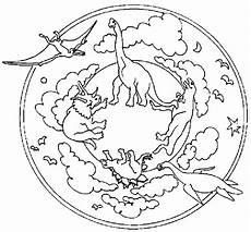 Mandala Malvorlagen Dinosaurier Dinosaurs Mandala Coloring Pages Dinosaurussen