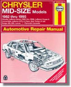 what is the best auto repair manual 1995 eagle talon parking system haynes chrysler mid size front wheel drive 1982 1995 auto repair manual