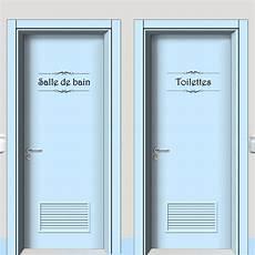 Vinyl Salle De Bain Vinyl Wall Sticker Porte Salle De Bain Et Toilettes