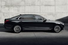 new genesis g90 executive sedan breaks cover debuts v6