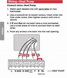 thermostat wiring for heat pump doityourself com community