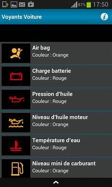 voyant voiture orange signification tous les voyants voiture applications android sur