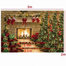 5x3ft 7x5ft Santa Gift Tree by Backdrops 5x3ft 7x5ft 10x7ft Fireplace
