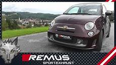 fiat 500 abarth with remus axle back sport exhaust system