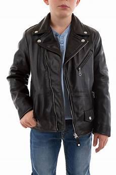 veste en cuir ado blouson enfant schott lcb600 black cuir city