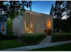 Modern Brick House Design in Chicago that Whimsically
