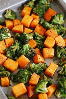 perfectly roasted broccoli sweet potatoes eat yourself