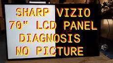 sharp vizio 70 inch bad lcd panel diagnosis