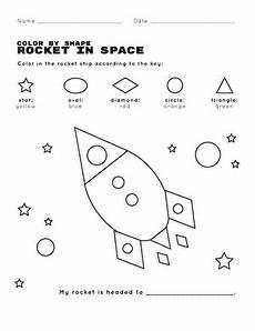 color by number shapes worksheets 16248 color by shape rocket in space worksheet education