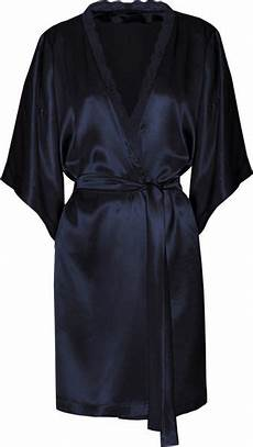 Stella Mccartney Clara Whispering Silk Satin Robe In Blue