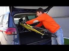 Auto Fahrradträger Anhängerkupplung - radfazz innenraum fahrradtraeger montieren und beladen