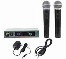 cordless microphone system nady pro dkw duo dual vhf wireless microphone system handheld mic sys 634343266306 ebay