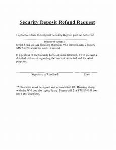 Rent Deposit Mn by 10 Printable Security Deposit Form Pdf Templates
