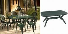 table de jardin ibiza grosfillex vert amazonie 1 65 1 00 m