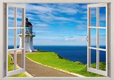 cape reinga lighthouse wall sticker 3d window light house