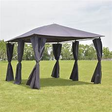 shop costway outdoor 10 x13 gazebo canopy tent shelter awning steel frame w walls gray