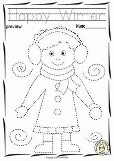 winter pre writing worksheets 20124 winter trace and color pages motor skills pre writing color worksheets for preschool