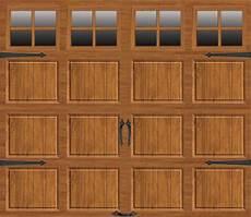 9 7 Garage Doors by Ideal Door 174 9 Ft X 7 Ft Medium Oak Steel Carriage House