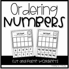counting and ordering numbers worksheets 8009 kindergarten math ordering numbers and counting worksheets cut and paste