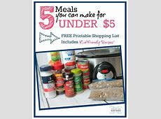Cheap Dinner Ideas   5 Meals for Under $5