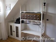 industrial style storage in craft room