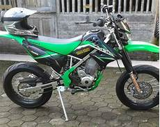 Modifikasi Klx 150 Adventure by Modifikasi Klx 150 Supermoto Motor Kawasaki Buat Adventure