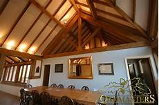 King Post Trusses And Open Vaulted Ceilings Oakmasters