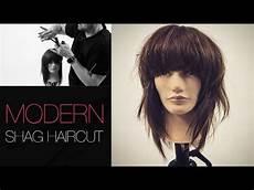 how to cut a modern shag haircut step by step youtube