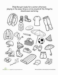winter worksheets for kindergarten 19961 kindergarten winter worksheets free printables education