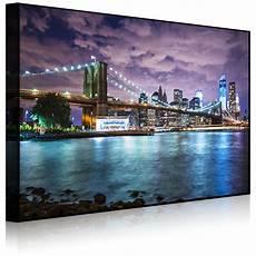 leuchtbild led bild skyline new york front lighted ebay