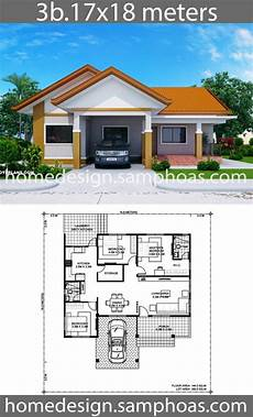 3 bedroom modern house plans house design plans 17x18m with 3 bedrooms home