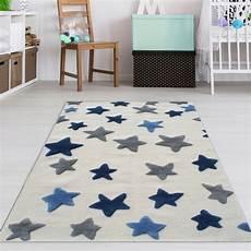 Sternen Teppich Kinderzimmer - kinderzimmer teppich jungen blaue sterne teppich4kids