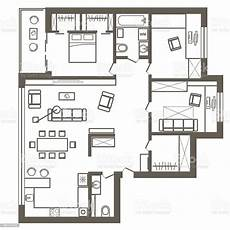 awesome sketch plan for 3 linear architectural sketch plan of three bedroom