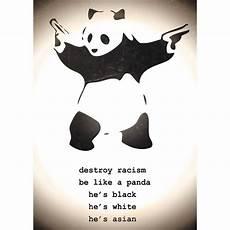 poster panda destroy racism poster panda small posters