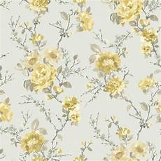 small flower wallpaper for wall duck egg yellow floral wallpaper departments