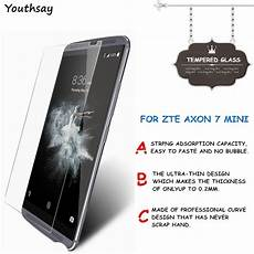 2pcs Screen Protector With Small by 2pcs Screen Protector Sfor Glass Zte Axon 7 Mini Screen