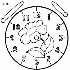 Kostenlose Malvorlage Uhrzeit Lernen Ausmalbild Blume Zum