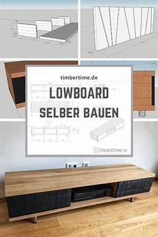 modernes massivholz lowboard aus eiche selber bauen in