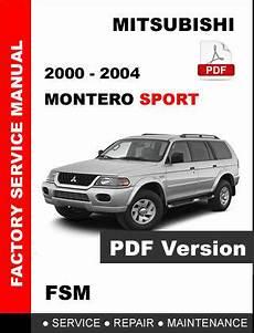 free service manuals online 2001 mitsubishi montero sport auto manual 2000 2001 2002 2003 2004 mitsubishi montero sport factory service repair manual service