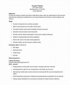 9 librarian resume templates free sle exle