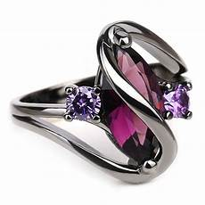 trendy pink engagement wedding rings for black gold