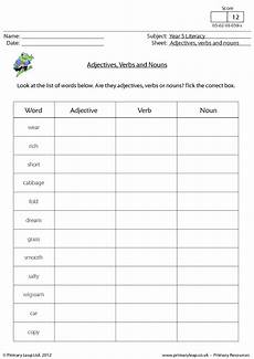 adjectives verbs and nouns