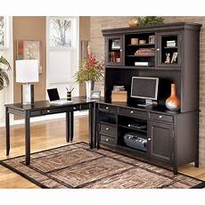corner home office furniture carlyle corner home office set w large hutch credenza