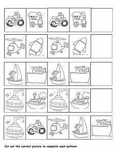 transportation pattern worksheet for kids transportation transportation worksheet preschool