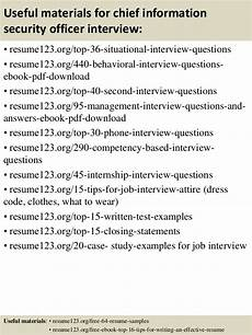 top 8 chief information security officer resume sles