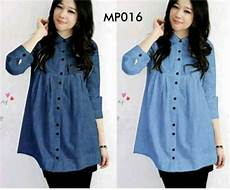 blouse casual denim button mp016 online dan murah http butikjingga com blouse casual